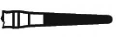 Fraises diamantées courtes conique à l extrémité arrondie  Kent Dental 164339