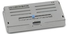 Cassette de stérilisation avec couvercle Endo Pro  Cassette 12 perforations Nichrominox 162942