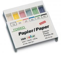 Pointes Papier ISO Color La boîte de 100 pointes Roeko 168443