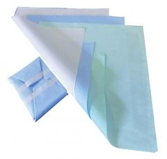 Feuille de stérilisation en papier crêpe Dimensions 40 x 40 cm Hygitech 167833
