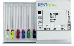 Limes K-File Longueur 21 mm Kent Dental 166489