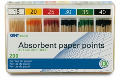 Pointes papier ISO colorées  Kent Dental 168455