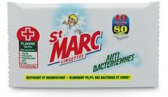 Lingettes anti-bactériennes Antibactériennes St Marc 166614