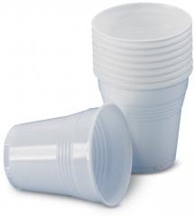 Gobelets en plastique blanc  medibase 164986