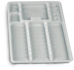 Plateaux jetables lisses avec compartiments  medibase 168251