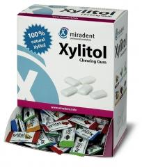 Chewing-gum sans sucre au Xylitol.  La boîte assortie de 200 dragées Miradent 161333