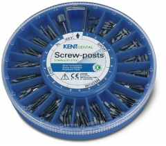 Screw-posts inox Le coffret assortiment de 120 Screw-posts Kent Dental 169851