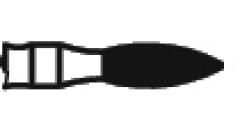 Fraises diamantées courtes flamme à l extrémité ogivale  Kent Dental 164337