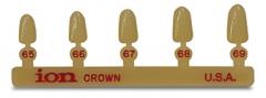 Boîte de 5 couronnes polycarbonate C 180 Incisives latérales Antérieures inférieures Courtes 3M 165811