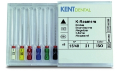 Broches K-Reamer Longueur 21 mm Kent Dental 160900
