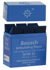Papier à articuler  La boîte de 300 feuilles Bausch 167822