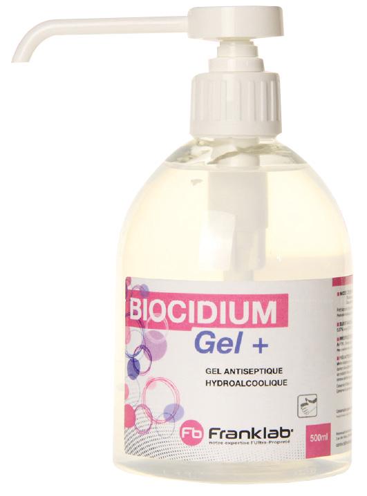Gel antiseptique hydroalcoolique Biocidium  Franklab 181538