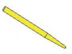 Tenons radiculaires  Le sachet de 12 Tenons empreintes plastiques Lisses Stabyl 170309