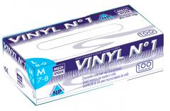 Gants vinyl n°1 non poudrés  Medistock 182256